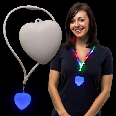 LED Heart Lanyard Necklace