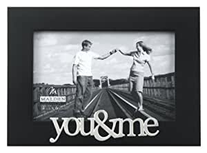 Malden Expressions Black Wood Picture Frame, You and Me, 4 by 6-Inch