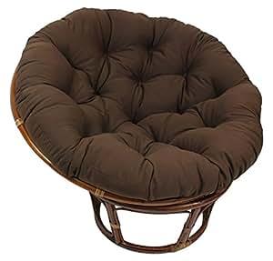 Blazing Needles Solid Twill Papasan Chair Cushion 52 X 6