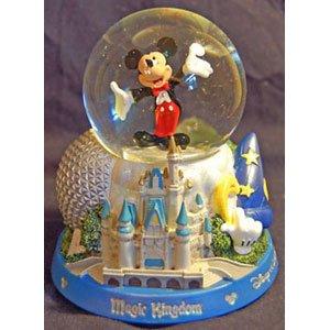 Disney 4 Park Icon Musical Snowglobe from Disney Theme Park Merchandise