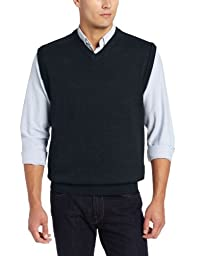Cutter & Buck Men\'s Broadview Sweater Vest, Navy Blue Heather, XX-Large
