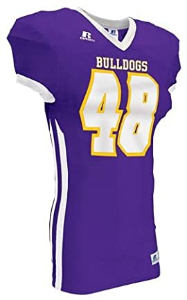 Russell Athletic S48SMMK Adult Color Block Game Football Jersey (Call 1-800-327-0074 to order)