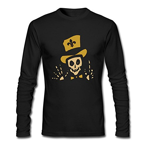 DESBH Men's New Orleans Voodoo Long Sleeve T Shirt Black (Wood Brothers T Shirt compare prices)