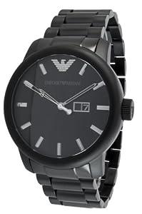 Emporio Armani Herren-Armbanduhr XL Analog Leder AR0346