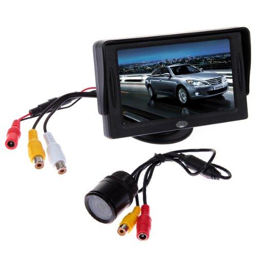 KIT VOITURE VUE ARRIERE 4.3 TFT LCD MONITOR+Caméra de recul couleur avec larges anles vision 135°et vision de nuit etanche