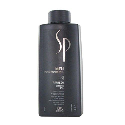 Wella System Professional - Shampoo Men Refresh - Linea Sp Men - 1000ml