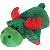 """Christmas Green Moose Zoopurr Pets 2-in-1 Stuffed Animal and Pillow Large 19"""""""
