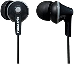 Panasonic RP-TCM125-K In-Ear Buds w/ Mic & Remote, Black