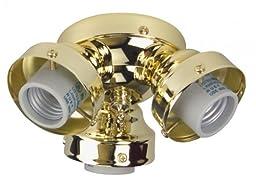 Craftmade F300CFL-PB 3 Light Universal Fitter, Polished Brass