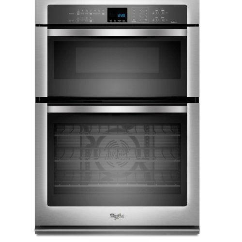"""Whirlpool WOC95EC0AS 30"""" Stainless Steel Electric Combination Wall Oven - Convection"""