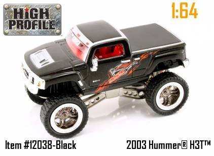 Jada Dub City High Profile Black Hummer H3T Concept 1:64 Scale Die Cast Truck Car by High Profile (Jada Toys High Profile 1 64 compare prices)