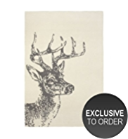 100% Wool Stag Design Rug