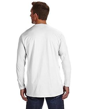 Hanes 4.5 oz., 100% Ringspun Cotton nano-T Long-Sleeve T-Shirt, 2XL, WHITE