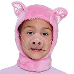 Childrens Instant Animal Puppy Pig Mouse Fur Hood & Nose Costume Mask Disguise from BNV