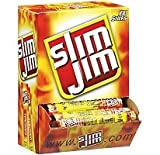 Slim Jim Smoked Snack Sticks, Original,28-Oz Total (Pack of 100)