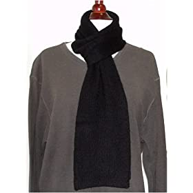 Pure Cashmere Scarf In Black For Man
