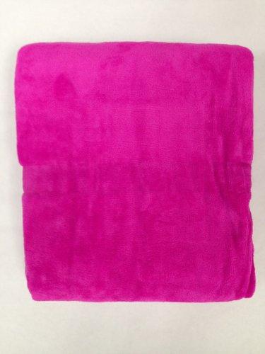 Queen Blanket Sumptuously Soft Plush Coral Fleece Mega Throw/Reversible Bedspread (Pink)