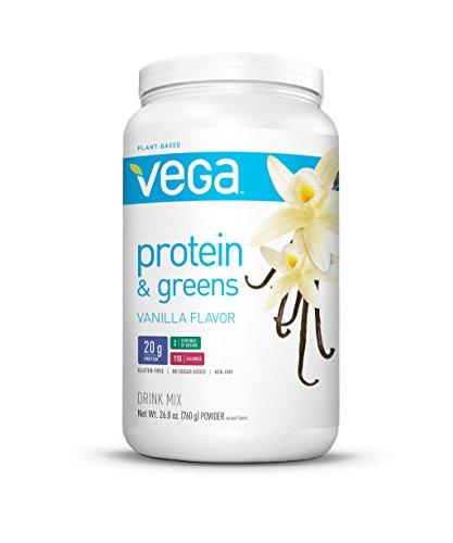 Vega Protein & Greens, Vanilla, Tub, 26.8 Oz