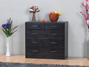 Kommode Kos 3+2 Schubladen Schrank Sideboard massiv Kiefer kolonial/lackiert    Kundenbewertung und weitere Informationen