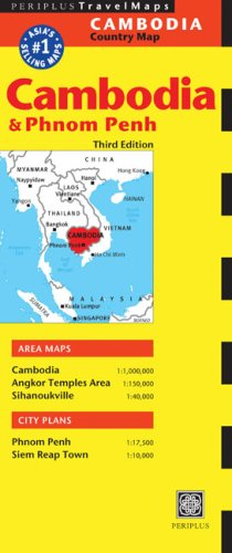 Cambodia Travel Map Third Edition (Comprehensive Country Maps)