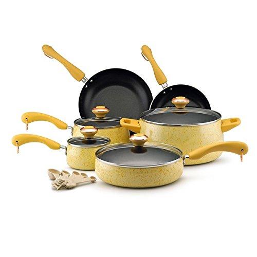 Paula Deen Signature Collection Porcelain Nonstick 15-piece Butter Speckle Cookware Set (Paula Deen Yellow Cookware Set compare prices)
