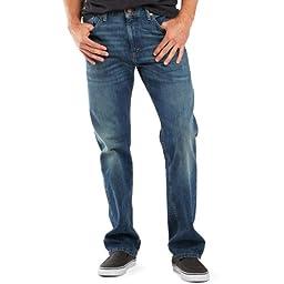 Levi\'s? Mens Men\'s 505? Regular Dark Stonewash Jeans 35 X 32