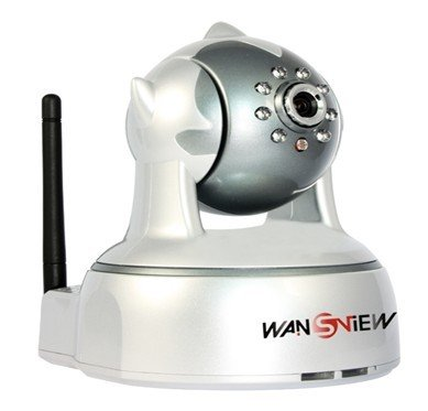 Wansview Wireless Network IP Camera, Two-way Audio Baby Monitor with IR Filter & Built-in LEDs for Night Function, Email Notification & Motion Detection, Colored in Silver