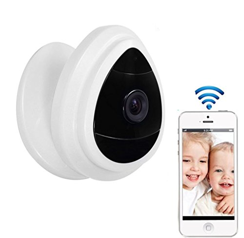 NexGadget-Security-Mini-IP-Camera-Baby-Monitor-Home-Surveillance-System-Wireless-Security-Camera-With-Built-In-Microphone-One-Way-Audio-Day-Vision-only-Motion-Detection-Indoor-WiFi-Camera-White