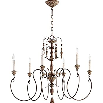 Quorum Lighting 6006-6-39, Salento 1 Tier Chandelier Lighting, 6LT, 120 Watts, Vintage Copper