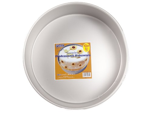 "PME Seamless Professional 12"" Round Cake Pan/Tin 3"" Deep ..."