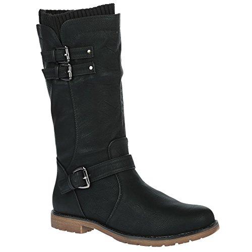 bypublicdemand-natalia-womens-low-heel-biker-sock-boots-black-6-uk-39-eu