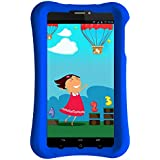 Pinig Kids Smart Tablet 0-5 With Blue Bumper (6.9 Inch, 2G, 3G, HD, 1280x720), Silver Black