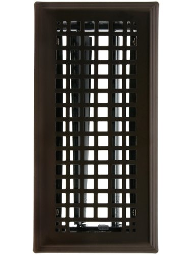 Solid Steel Mission Style Louvered Floor Register, In 6 Finishes. Register Cover. (Floor Register Mission compare prices)
