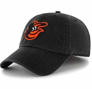 MLB Baltimore Orioles '47 Brand Clean Up Adjustable Hat, One Size, Black