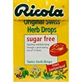 THREE PACKS of Ricola Original Sugar Free Lozenges Box 45g