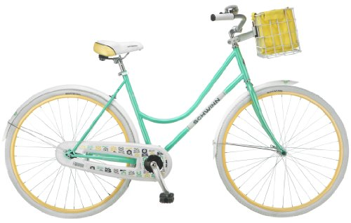 Schwinn Women's Fairbrook 700C Cruiser Bicycle, Mint/Yellow, 16-Inch