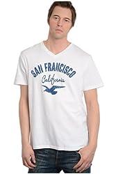 G Zap Men's San Francisco Graphic V-Neck Cotton T-Shirt Top