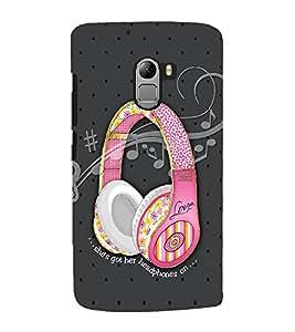 Headphones on Back Case Cover for Lenovo K4 note