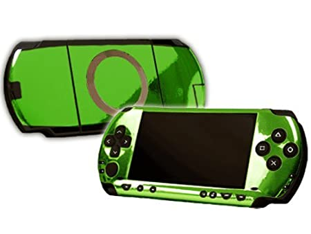 PlayStation Portable 1000 (PSP) Skin - NEW - LIME CHROME MIRROR system skins faceplate decal mod