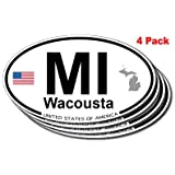 Wacousta, Michigan Oval Sticker 4 pack