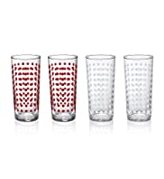 4 Spotted Hi Ball Glasses