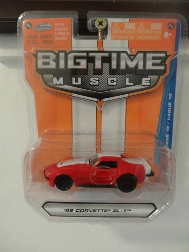 Jada Bigtime Muscle '69 Corvette ZL-1 Red #004