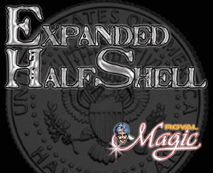 Expanded Half Shell - The Coin Worker's Ultimate Utility Gimmick! - Half Dollar Size
