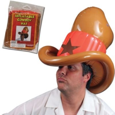 "Cowboy Inflatable Hat 20"" - 1"