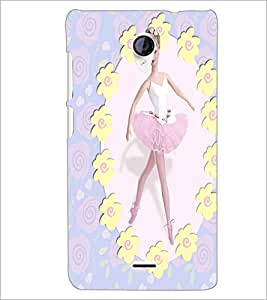 PrintDhaba Dancing Girl D-1083 Back Case Cover for MICROMAX A106 UNITE 2 (Multi-Coloured)