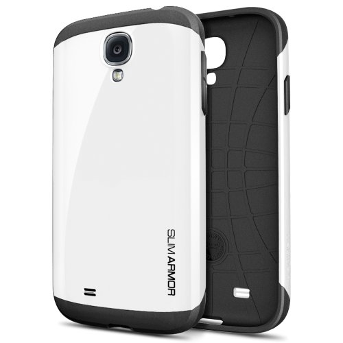 SPIGEN SGP Samsung Galaxy S4 Case Protective [Slim Armor] [Infinity White] Dual Layer Advanced Shock Absoption Protective Case for Galaxy S IV Galaxy SIV i9500 - Infinity White