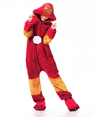 SMO Pyjama Erwachsene Anime Cosplay Halloween Kostüm Kleidung Erwachsene Männer Frauen Frau Unisex Tier Schlafanzug Tieroutfit Tierkostüme (Medium, Iron Man)