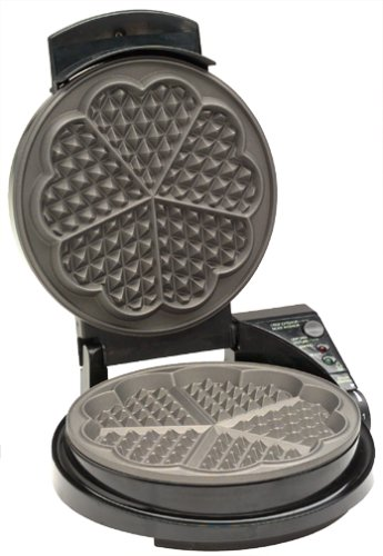 Heart shaped waffle maker. Valentine's Day Gift Guide for the Cook www.pinchofnutmeg.com