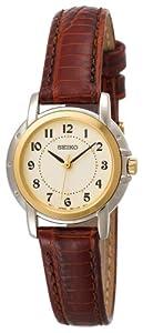 (抢低)精工真皮金色表圈女表Seiko SXGA02 Brown Leather Strap Watch$78.24
