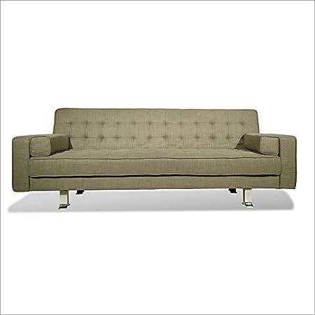 Serta Dream Convertibles Rudolpho Convertible Sofa in Taupe